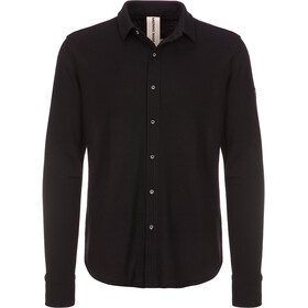 super.natural Piquet Shirt - T-shirt manches longues Homme - bleu